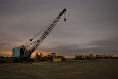Night crane Stock Photo