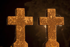 Night crosses Stock Photos