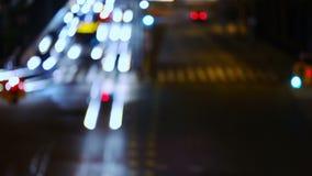 Night Crossroad stock video
