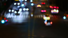 Night Crossroad. Slow Motion stock video footage