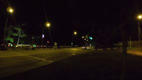 Night crossroad time lapse. Night crossroad traffic time lapse video clip stock video footage
