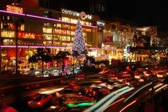Night crowded traffic lights Stock Image