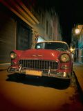 Night Cuban Oldsmobile #3 Stock Photography