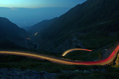 Night curvy road stock image
