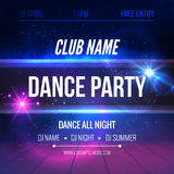 Night Dance Party Poster Background Template. Festival Vector mockup.  Stock Photography