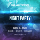 Night Dance Party Poster Background Template. Vector mockup Stock Photography