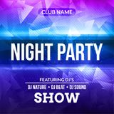Night Dance Party Poster concert Background Template. Vector DJ Club music poster flyer. Night Dance Party Poster concert Background Template. Vector DJ Club Royalty Free Stock Image
