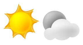 Night and Day. The sun, The moon Stock Illustration