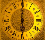 Night into Day. Antique grandfather clock face royalty free stock image