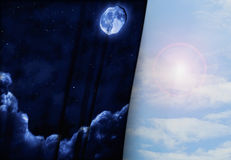 Night and day Stock Image