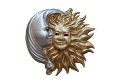 Night and day mask. Night and day - sun and moon carnival mask Royalty Free Stock Image