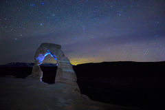 Night at Delicate Arch. royalty free stock photography