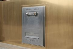 Night Deposit. Box Royalty Free Stock Photography