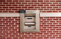 Night deposit box. At a bank royalty free stock image