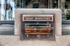 Night Deposit Tray of Abandoned Back Stock Photo