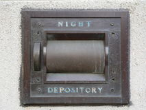 Night Depository Vault at a bank (generic) Royalty Free Stock Image