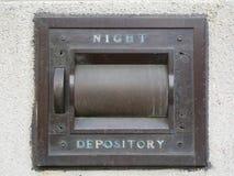 Night Depository Vault at a bank (generic). A generic Night Deposit vault drop box royalty free stock image