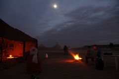 The night in the desert. Of morocco Royalty Free Stock Photo