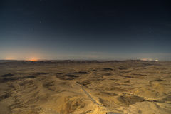 Night in desert mountain travel Royalty Free Stock Photography