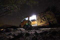 Night in the desert Stock Image
