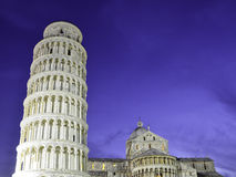 Night Detail of Piazza dei Miracoli in Pisa Royalty Free Stock Photos
