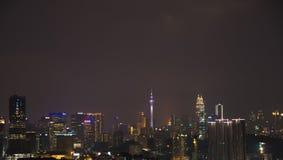 @night di Kuala Lumpur fotografie stock