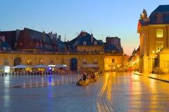 Night Dijon. View of Dijon city in a summer night Stock Image