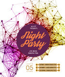 Night Disco Party Poster Background Stock Photos