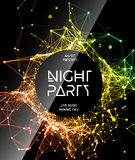 Night Disco Party Poster Background Royalty Free Stock Image