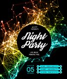 Night Disco Party Poster Background Royalty Free Stock Images