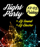 Night Disco Party Poster Background Royalty Free Stock Photography