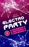 Night Disco Party Poster Background Stock Photos