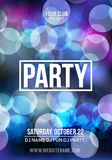 Night Disco Party Poster Background Template - Vector Illustration.  stock illustration