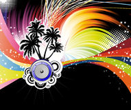 Night disco poster Royalty Free Stock Photo