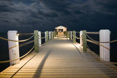 Night dock Stock Image