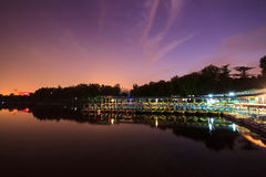 Night at the dock Royalty Free Stock Photos