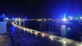 Night dock. Valencia night dock stock photos