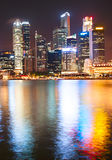 Night Downtown Core, Singapore Stock Photography