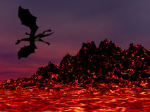 Night Dragon Royalty Free Stock Photos