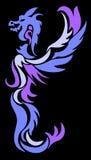 Night dragon. On black background Stock Photos