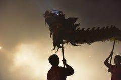 Night of dragon bombing. Royalty Free Stock Image