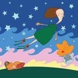 Night dream illustration Stock Photo