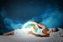 Night dreaming Stock Photo
