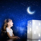 Night dreaming Royalty Free Stock Image