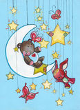 Night dreams. Colorful fairy happy night dreams Stock Image