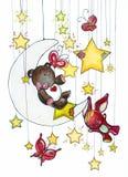 Night dreams stock illustration