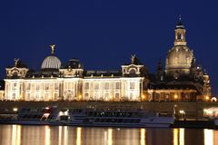 Night Dresden Stock Images