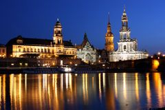 Night Dresden Royalty Free Stock Photo