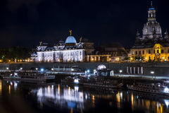 Night Dresden Stock Image
