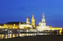 Night Dresden. Night view of the Dresden Elbe shore Royalty Free Stock Image